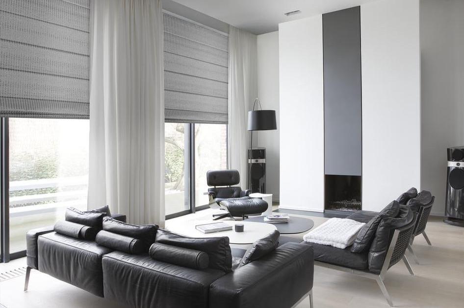 Vouwgordijnen gordijnenatelier cur10 - Gordijnen voor moderne woonkamer ...